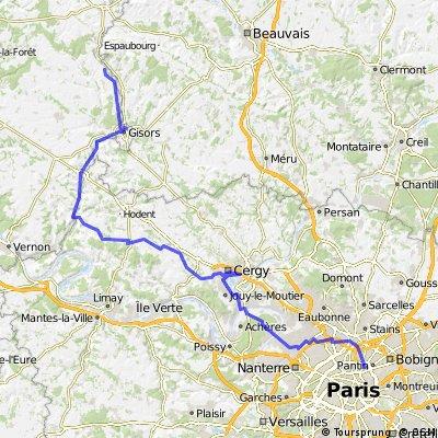 Paris - Londres -> Première étape  CLONED FROM ROUTE 1869604