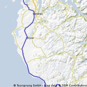 Egersund to Tananger
