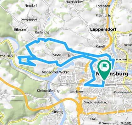 Winzerer Höhe - Schotterwerk Etterzhausen - Kneiting