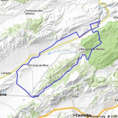 Bocairent - (Guilella) - Banyeres - (serra) - Biar - La Canyada - Beneixama - Bocairent