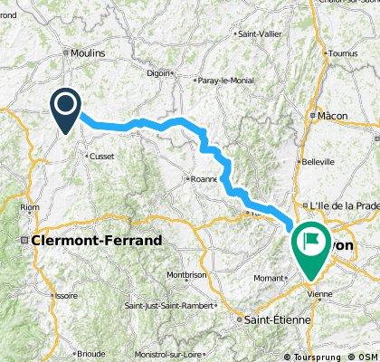 Etappe 14 Tour de France 2013 von Saint-Pourçain-sur-Sioule nach Lyon