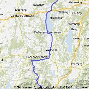 Von Oberammergau nach Fürstenfeldbruck/Schöngeising