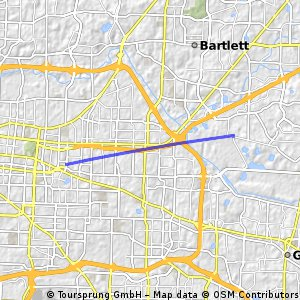Cycling routes and bike maps in and around Bartlett ... on shelby farms green line, shelby farms park conservancy, shelby farms park memphis tn, shelby farms events, shelby farms trail map,