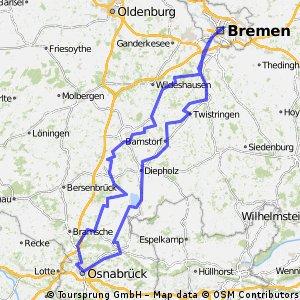 brückenradweg osnabrück bremen karte Brückenradweg Osnabrück Bremen CLONED FROM ROUTE 208278 | Bikemap