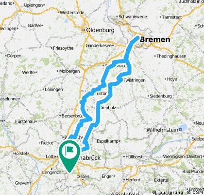 Brückenradweg Osnabrück-Bremen CLONED FROM ROUTE 208278