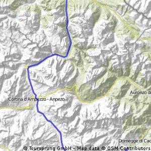 7. Etappe Welsberg Calalzo