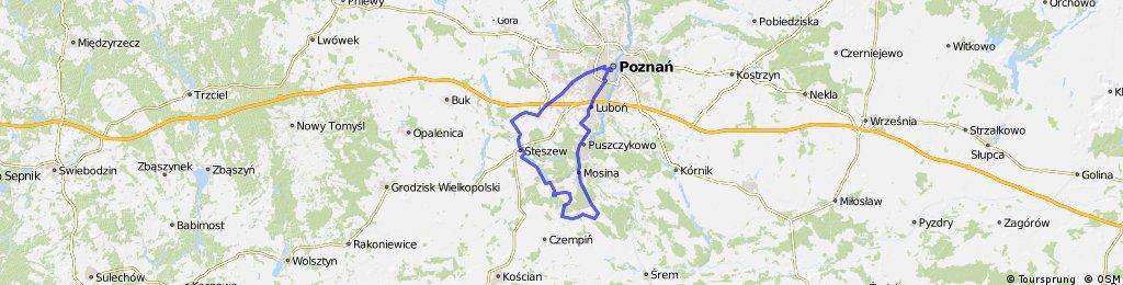 Poznań - Mosina - Żabno - Pecna - Dymaczewo - Trzcielin - Konarzewo - Plewiska - Poznań