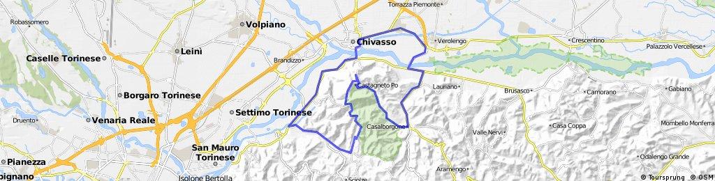 Chivasso-Casalborgone-CastagnetoPo-Rivalba-Gassino-Chivasso