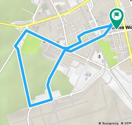 Wyśmienita i wszechstronna trasa na wierczorne: bieganie/jazdę na rolkach/jazdę na rowerze.