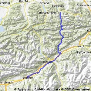 4. Etappe Josefstal - Wattens