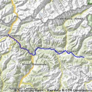 6. Etappe Sterzing - Welsberg