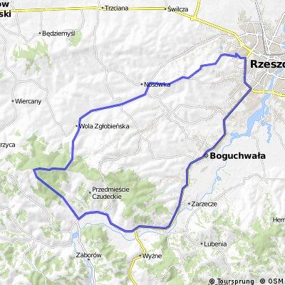Rzeszów-Zgłobień-Wielki Las-Czudec-Rzeszów
