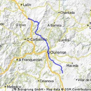 Ruta 8 Xunqueira - O castro 65,953
