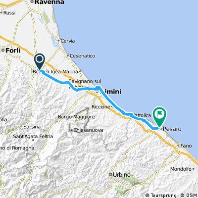 2012 - Adria Nord-Süd - 1. Tag - Cesena - Pesaro
