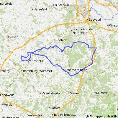 Rundkurs von Westerholz durch d. Lüneburger Heide