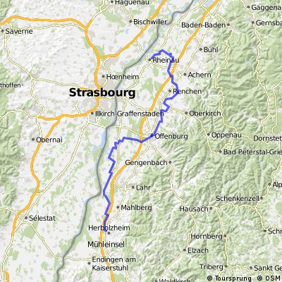Ortenau-Radweg Süd ab Muckenschopf