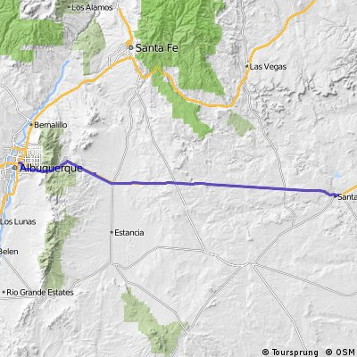 US Route E7: Albuquerque - Santa Rosa