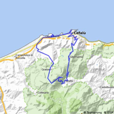 Cycling routes and bike maps in and around Cefalù ...