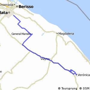 La Plata a Las Tahonas y Verónica