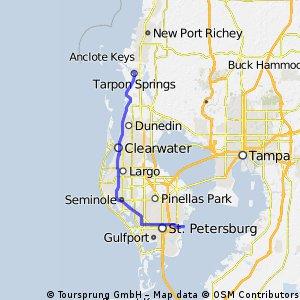Ruta #54 Saint Petersburg - Clearwater - Tarpon Springs