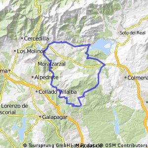 El Berzalejo - Manzanares El Real - Becerril de la Sierra - Morazarzal - El Berzalejo