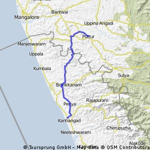 Cycling Routes And Bike Maps In And Around Kanhangad Bikemap - Kanhangad map