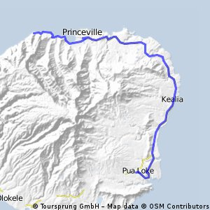 Kauai East Route 3 130km CLONED FROM ROUTE 1262558