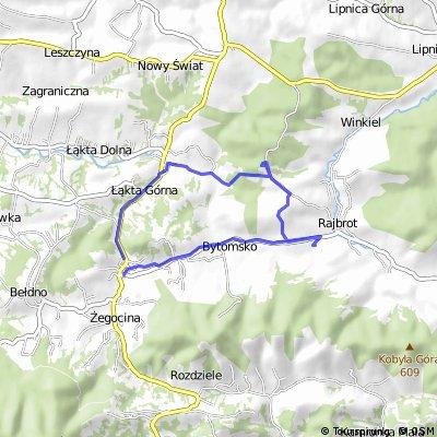 Żegocina - Łąkta Górna - Rakowiec - Rajbrot - Bytomsko - Żegocina