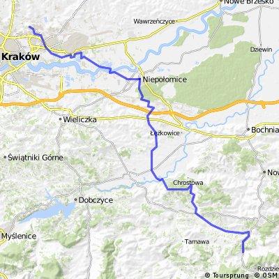 Kraków - Przylasek Rusiecki - Niepołomice - Brzezie - Łapanów - Żegocina