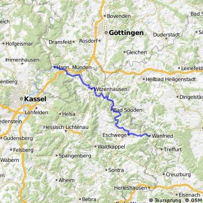 Hann.Münden nach Wanfried/Werra