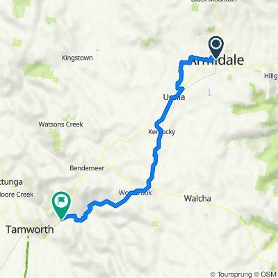 Armidale to Kootingal railway station