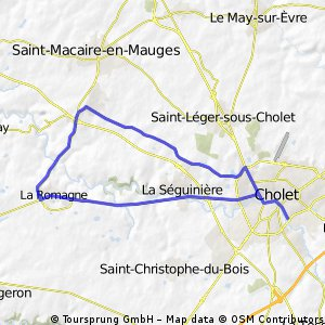 Cycling routes and bike maps in and around Cholet Bikemap Your