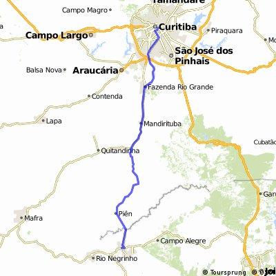 São Bento do Sul - Curitiba