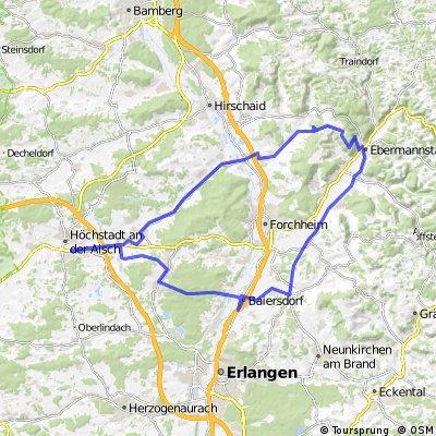 Höchstadt-Feuerstein-Kirchehrenbach-Baiersdorf-Höchstadt