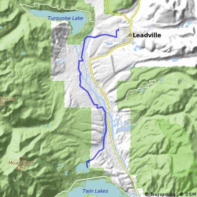 Leadville - Mt Elbert Forebay MTB Route