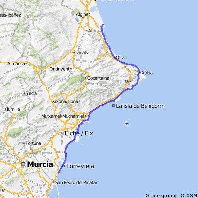 cartajena - valencia 330 kmts