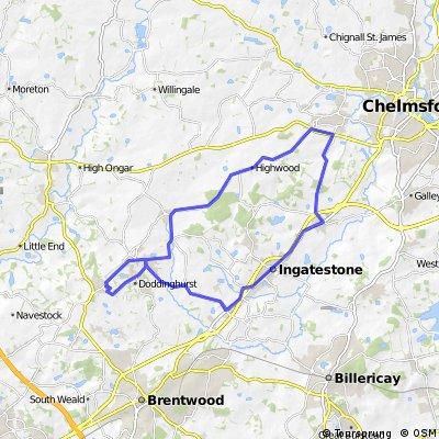 Kelvedon Hatch - Margareting - Ingatestone Loop