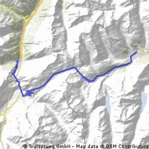 1.2012 Göschen nach Rueras(Sedrun)