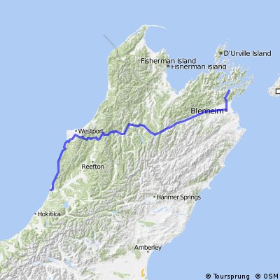 Greymouth to Picton vis SH63
