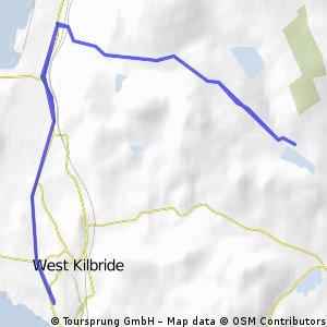 West Kilbride to Fairlie Moor