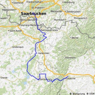 5.2012 Steinborn nach Saarbrücken