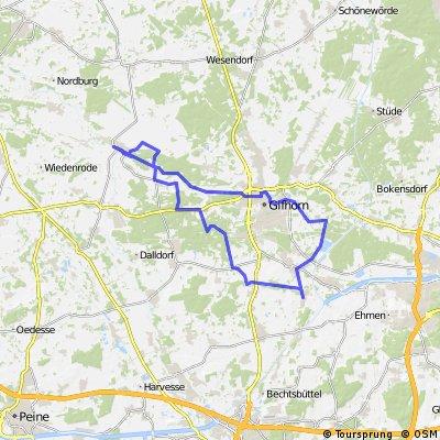 Wasbütteler Radlertreff Tour Ettenbüttel  - Müden/ Aller - Neubokel - Gifhorn - Wasbüttel
