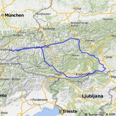 Zillertal - Südsteiermark - retour CLONED FROM ROUTE 65478