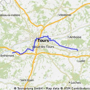 CFL D08 Chenonceau - Vouvray - Tours - Valleres 66km
