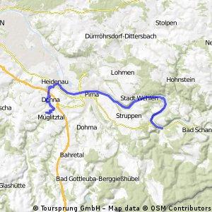Falkenhain - Königstein (Rollerrunde)
