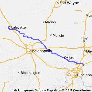 Lafayette, IN to Greater Cincinnati, OH