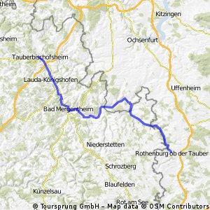 Tauberbischofsheim nach Rothenburg/Tauber