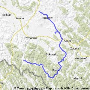 IX Górska Pielgrzymka Rowerowa Rzeszów - Dębowiec - dzień 2/4 CLONED FROM ROUTE 1273621