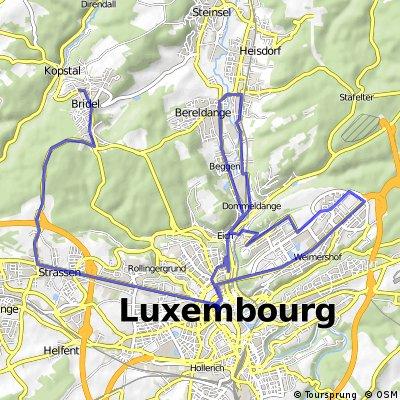 Petit tour Bridel/Strassen/Kirchberg/Walfer