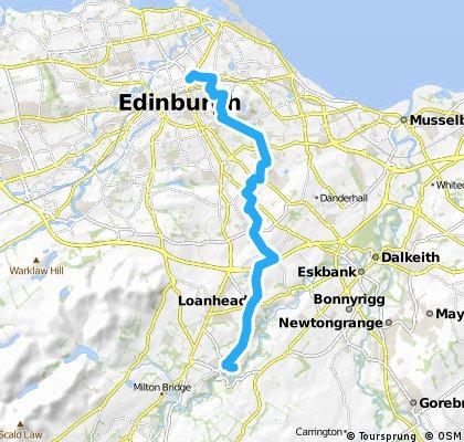 Edinburgh (East route) to Rosslyn Chapel